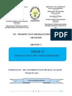 Prospection Sismique Tpe Groupe 02