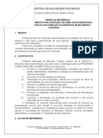 TERMO DE REFERENCIA PAVIMENTAÇÃO COMUNITÁRIA