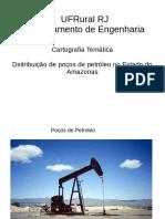 Distribuição de poços de petróleo no Amazonas