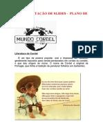 SLIDES DO PLANO DE AULA