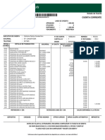 Cartola Emitida Cuenta