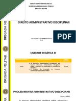 DIREITO ADM DISCIPLINAR - UD III