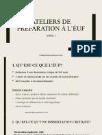 1D - PowerPoint de l'Atelier 1