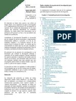 PROTOCOLO DE PROYECTOS INVESTIGACIÓN EN CIENCIAS DE LA SALUD Dr Chiara