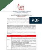 Agenda Vota por la Niñez firmada por candidatos y candidatas a la Presidencia Perú 2011