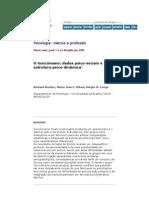 O toxicômano dados psico-sociais e estrutura psico-dinâmica
