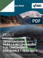 BIDeconomics Peru Oportunidades Para La Recuperacion y El Crecimiento Sostenible y Resiliente