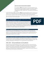 Adopción de las normas Internacionales de Auditoria