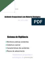 [Epidemio] Aula ST - Acidente Ocupacional com Material Biológico