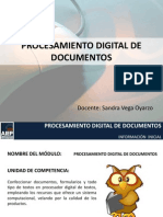 PROCESAMIENTO DIGITAL DE DOCUMENTOS