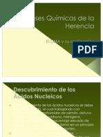 Bases Quimicas de la Herencia y Replicacion de ADN