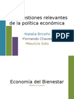 Tres cuestiones relevantes de la política económica