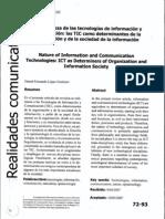 La naturaleza de las tecnologías de informacion y comunicación