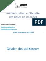 Administration Et Sécurité Des Bd-partie 4