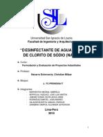 2015 Barrientos Desinfectante de Agua a Base de Clorito