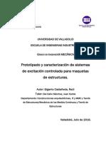Prototipado y caracterización de sistemas de excitación controlada para maquetas de estructuras