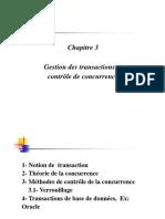 Transaction concurrence traitement d'image