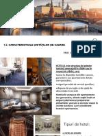 1.3. CARACTERISTICILE UNITATILOR DE CAZARE
