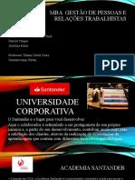 MBA  GESTÃO DE PESSOAS E RELAÇÕES TRABALHISTAS - UNIVERSIDADE CORPORATIVA