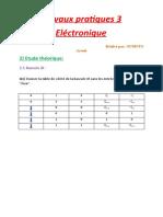 Travaux pratiques 3-Electronique