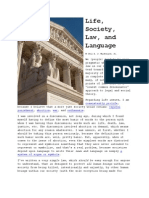 Life, Society, Law, And Language