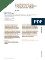(2019) El Trabajo Con Hombres Desde Una Perspectiva de Genero Una Asignatura Pendiente en La Intervencion Social - Bakea Fernandez - Edurne Aranguren y Ritxar Bacete