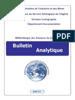 Bulletin Analytique 2016