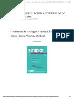 Comentario a La Conferencia de Heidegger_ Construir, Habitar, Pensar.
