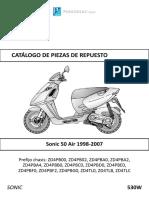 APRILIA SONIC 50 AIR. 1998 - 2007