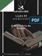 Abra a Jaula - Lição n° 09 - 2° Tm 2021