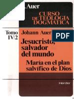 Jesucristo Salvador Del Mundo Maria en El Plan Salvifico de Dios Auer Johann HERDER DQbq9kEBePh94C3gHMDddSa43