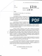 1380-21 CGE Adhiere a Decretos N° 1143-21 GOB y 1145-21 GOB suspendiendo clases presenciales