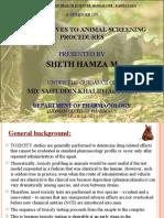 Alternatives to Animal Screening Methods By Hamza Sheth