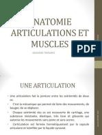 ANATOMIE ARTICULATIONS ET MUSCLES