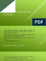 5. ORTOGRAFÍA DEL USO DE LA TILDE