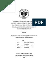 Struktur dan Fungsi Pertunjukan Kesenian Barongan Dalam Upacara Ritual Pada Bulan Sura Di Dusun Gluntungan Desa Banjarsari Kecamatan Kradenan Kabupaten Grobogan