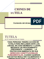 Acciones de Tutela