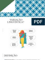 Variação linguística 9ª SEMANA