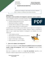 DELIMITACIÓN DE OBJETIVOS