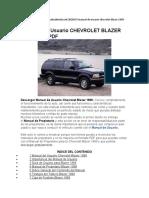 Manual de Usuario CHEVROLET BLAZER 1999 Gratis