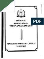 #Standar Satuan Harga Langkat  2019