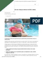 Brasil terá 11,3 milhões de crianças obesas em 2025, estima organização - BBC News Brasil