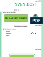 CC - PPT - TEORÍA DE EXPONENTES