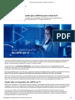 Saiba quais são os desafios e impactos da LGPD na TI