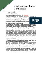 Entrevista de Jacques Lacan ao jornal L (1)