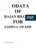 Biodata for Sadhna Award
