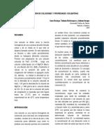 PREPARACION DE SOLUCIONES Y PROPIEDADES COLIGATIVAS