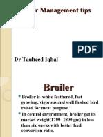Broiler Management TIPS