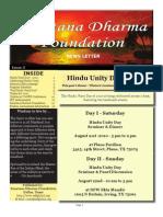 Hindu Unity Day 2010 Newsletter
