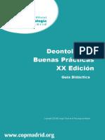 Guía Didáctica Deontología y BP XXEd
